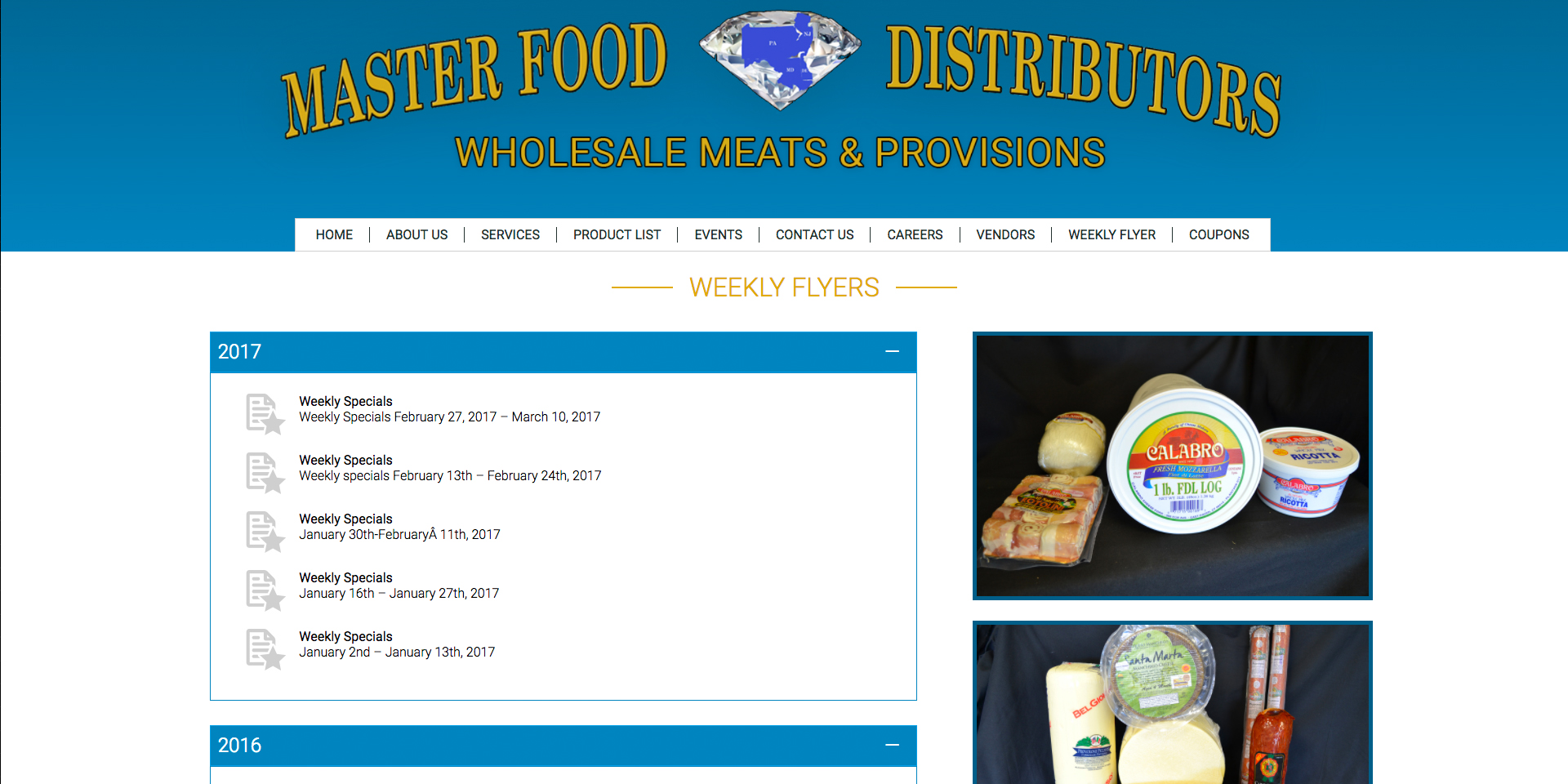 Responsive specials page for the Masterfood website